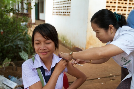 Laos is in the midst of a Measles and Rubella campaign. It plans to vaccinate three million young people against the diseases in November and December.